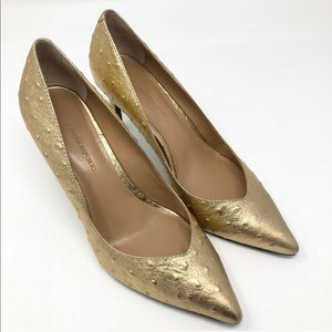 Banana Republic Gold Madison Pump